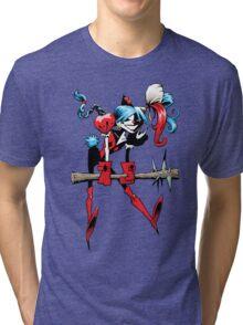 Harlequin Girl Tri-blend T-Shirt