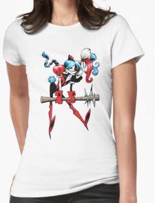 Harlequin Girl Womens Fitted T-Shirt