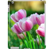 Pink Tulips in Spring iPad Case/Skin