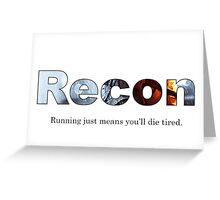 Recon BF Greeting Card