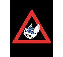Danger Blue Shell Photographic Print
