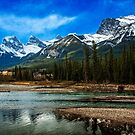 3 Sisters above the Bow River by Yukondick