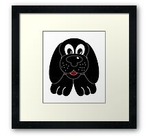 Children's Black Puppy Dog Framed Print