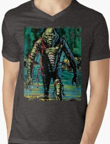 Swamp Creature Mens V-Neck T-Shirt