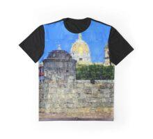Saint Philip Castle and La Popa Convent in Cartagena Colombia Graphic T-Shirt