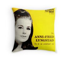 Frida of Abba wonderful cover solo album design Throw Pillow