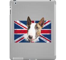 Bull Terrier BETTY Bullterrier UK grunge FLAG // transparent iPad Case/Skin