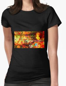 Galaxy and Stars in Colours Womens Fitted T-Shirt