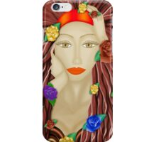 Lady and roses  iPhone Case/Skin