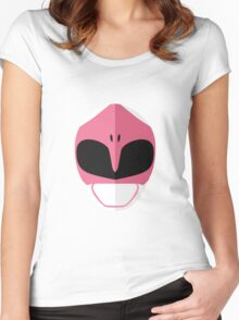 Mighty Morphin Power Rangers - Pink Ranger Women's Fitted Scoop T-Shirt
