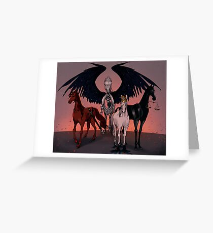 The Four Horses of the Apocalypse Greeting Card