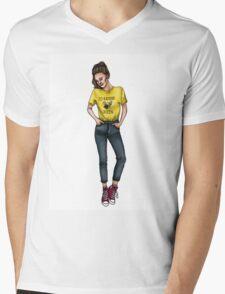 I'd Rather BEE Queen (color) Mens V-Neck T-Shirt