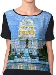 Capitol In Washington D.C Chiffon Top