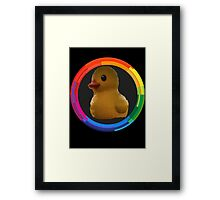 Polygon art : Duck Quack Quack Framed Print