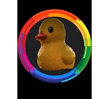 Polygon art : Duck Quack Quack Photographic Print
