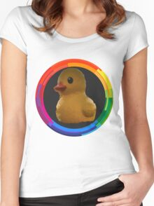 Polygon art : Duck Quack Quack Women's Fitted Scoop T-Shirt