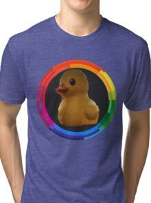 Polygon art : Duck Quack Quack Tri-blend T-Shirt