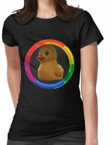 Polygon art : Duck Quack Quack Womens Fitted T-Shirt