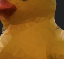 Polygon art : Duck Quack Quack Sticker