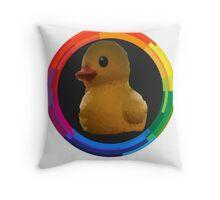 Polygon art : Duck Quack Quack Throw Pillow