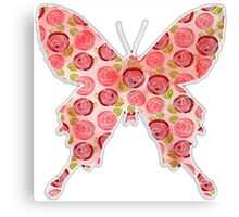 Flower filled in Butterfly Canvas Print