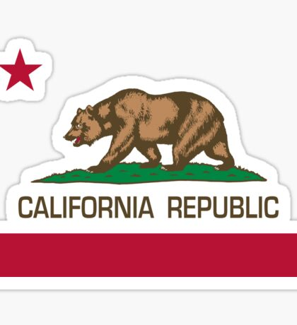 California Republic state flag - Authentic Version Sticker