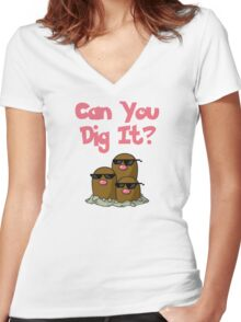 Can You Dig It? Women's Fitted V-Neck T-Shirt
