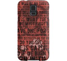 The Hunger Games Typography Samsung Galaxy Case/Skin