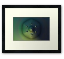 Hexagon Fractal Framed Print