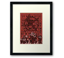The Hunger Games Typography Framed Print