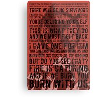 The Hunger Games Typography Metal Print
