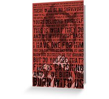 The Hunger Games Typography Greeting Card
