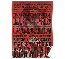 The Hunger Games Typography Poster