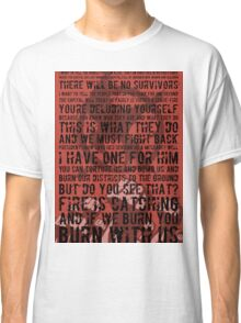 The Hunger Games Typography Classic T-Shirt