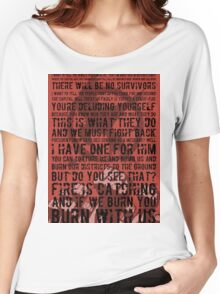 The Hunger Games Typography Women's Relaxed Fit T-Shirt