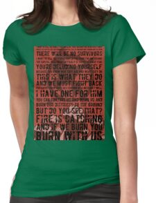 The Hunger Games Typography Womens Fitted T-Shirt
