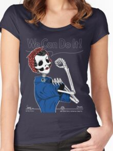 Rosie: We Can Do It! Women's Fitted Scoop T-Shirt