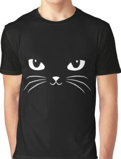 Cute Black Cat Graphic T-Shirt