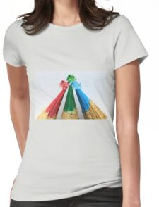 Three Colored Pencils Womens Fitted T-Shirt