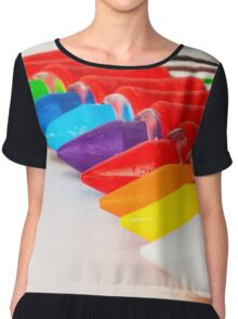 pens and pencils in a line Chiffon Top
