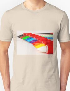 pens and pencils in a line Unisex T-Shirt