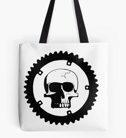 Sprocket Skull Tote Bag