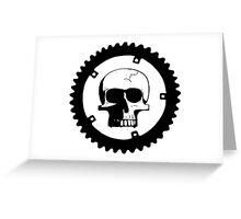 Sprocket Skull Greeting Card