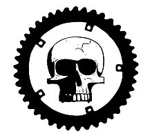 Sprocket Skull Photographic Print