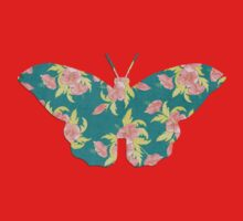vintage butterfly with flowers design One Piece - Long Sleeve