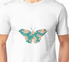 vintage butterfly with flowers design Unisex T-Shirt