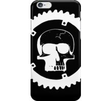 Sprocket Skull- White on Black iPhone Case/Skin
