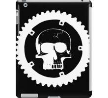 Sprocket Skull- White on Black iPad Case/Skin