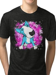 English Bull Terrier Cartoon  Tri-blend T-Shirt