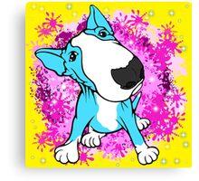 English Bull Terrier Cartoon  Canvas Print